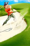 golf bunker iwallander llustration